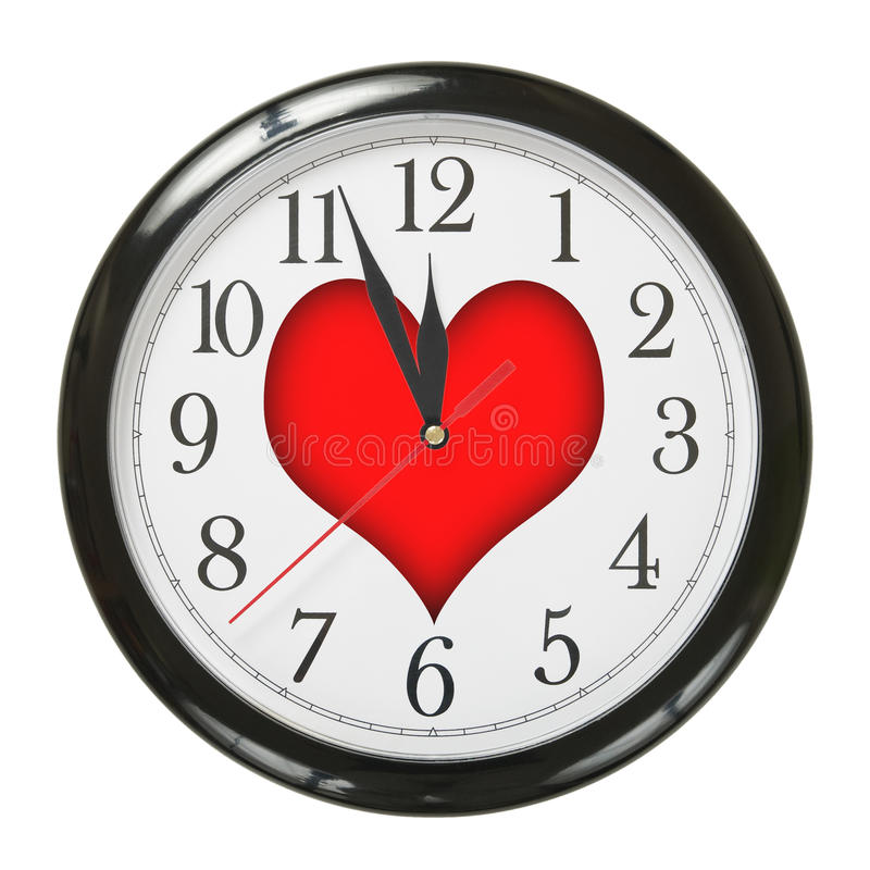 Horloge de l'amour photos stock