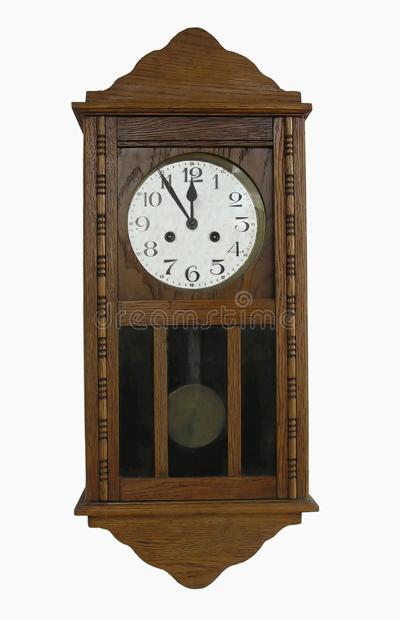 Horloge de mur de cru photos libres de droits