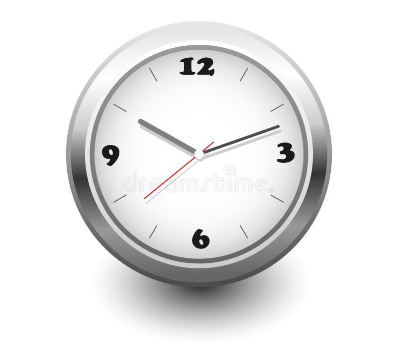 Horloge de mur de graphisme illustration libre de droits