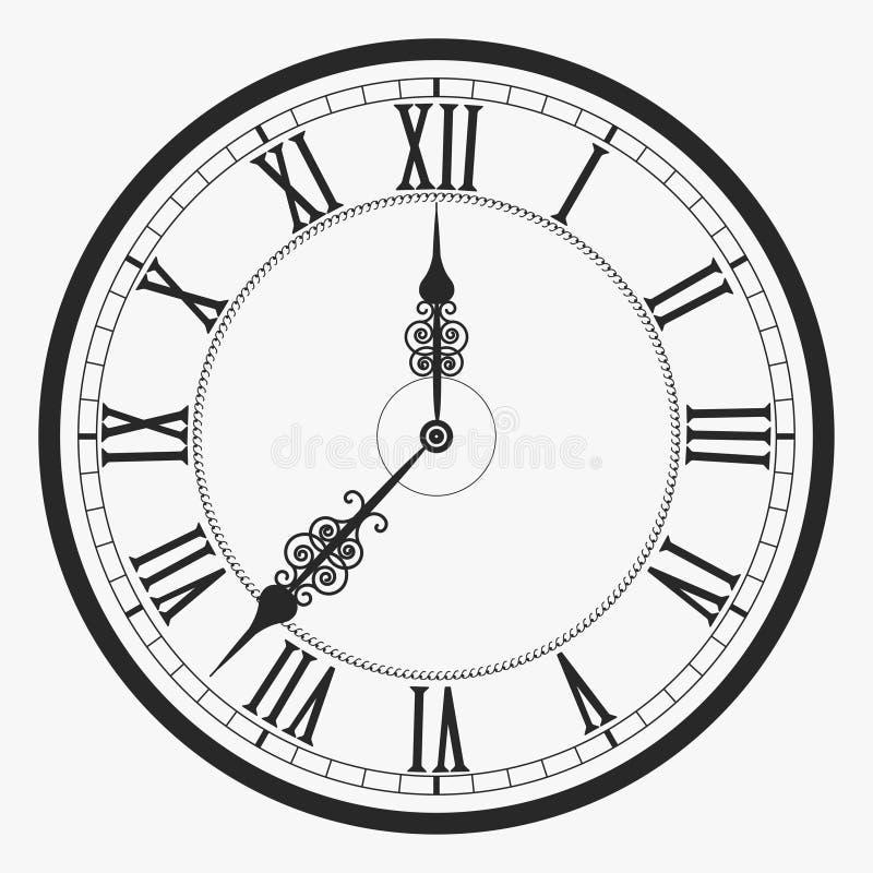 Horloge de mur noire illustration de vecteur