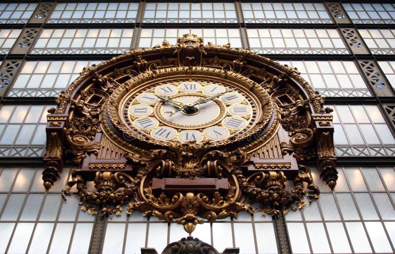 Horloge de musée Orsay à Paris photographie stock
