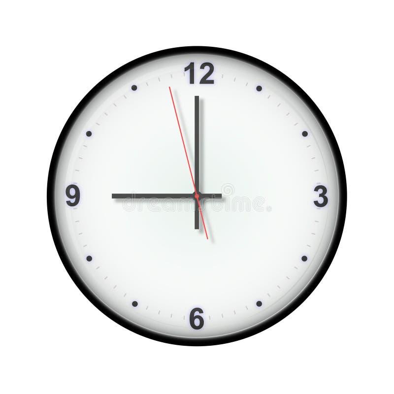 Horloge de neuf o illustration stock