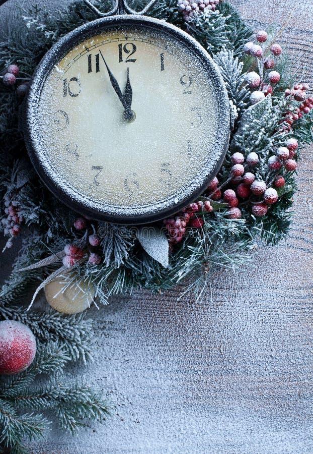 Horloge de Noël. photographie stock