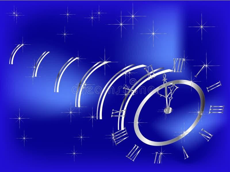 Horloge de nouvelle année illustration stock