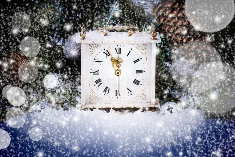 Horloge de nouvelle année photographie stock