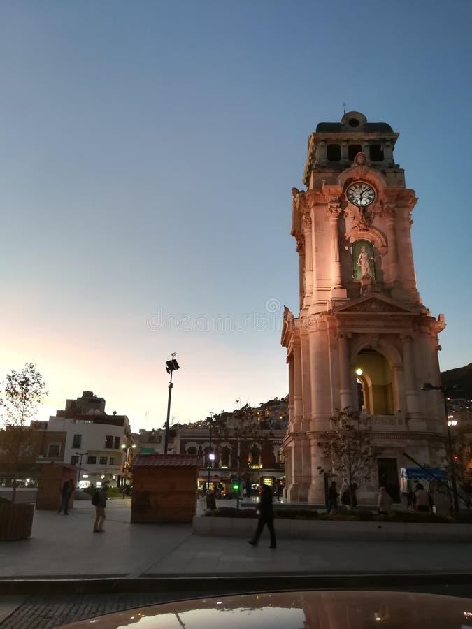Horloge de Pachuca photos libres de droits