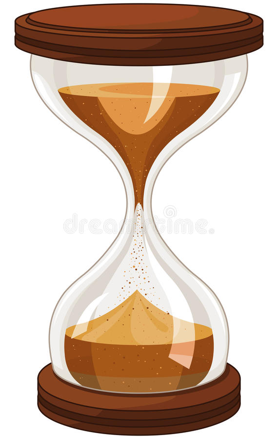 Horloge de sable illustration libre de droits