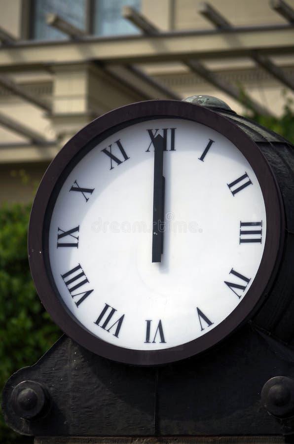 Horloge de station image stock