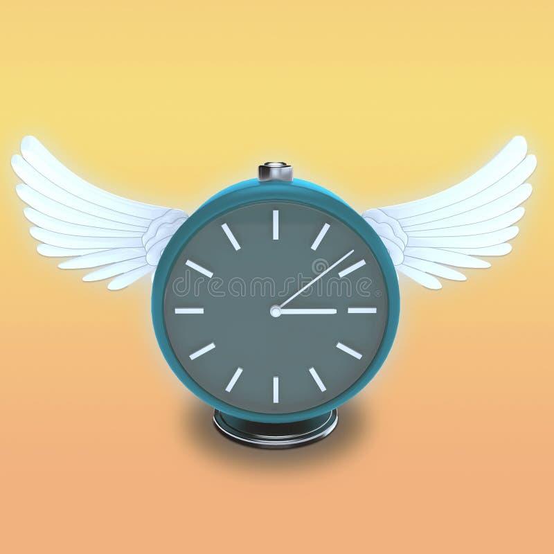 Download Horloge De Table Ronde Avec Les Ailes Blanches Illustration Stock - Illustration du graphisme, ange: 77161634