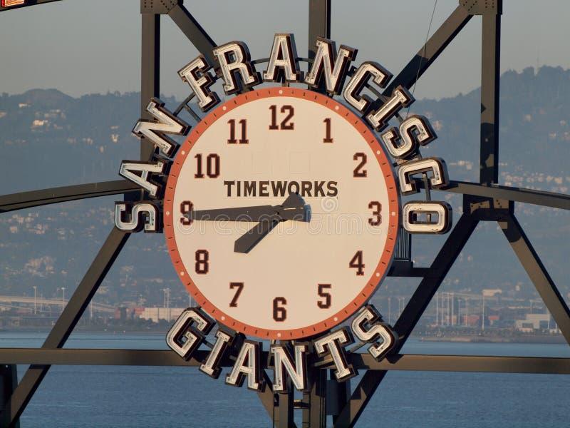 Horloge de tableau indicateur de San Francisco Giants par TimeWorks photo libre de droits
