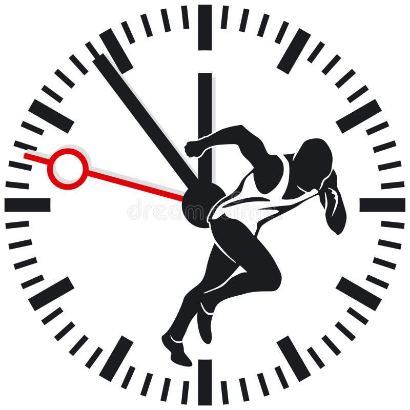 Horloge de temps de fonctionnement illustration de vecteur