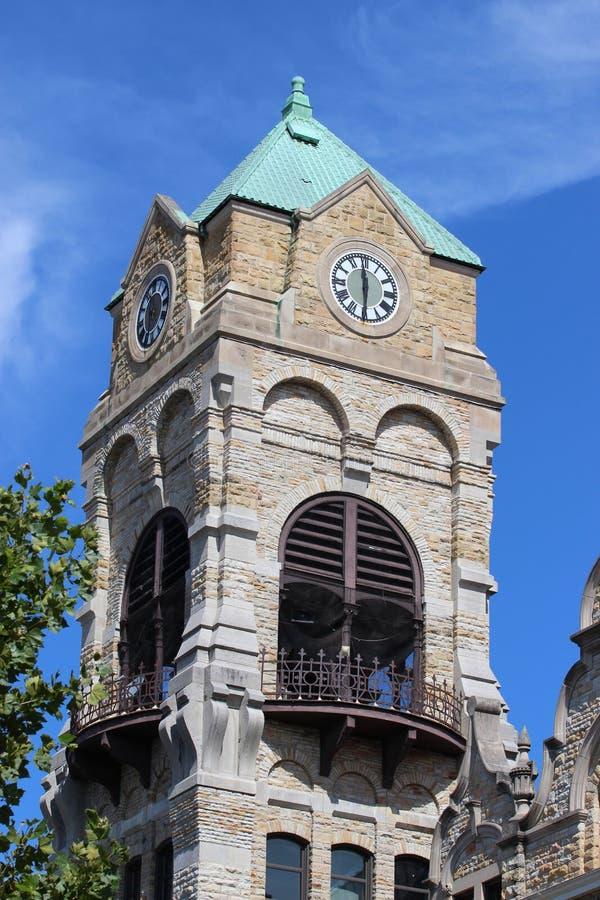 Horloge de tribunal photos libres de droits
