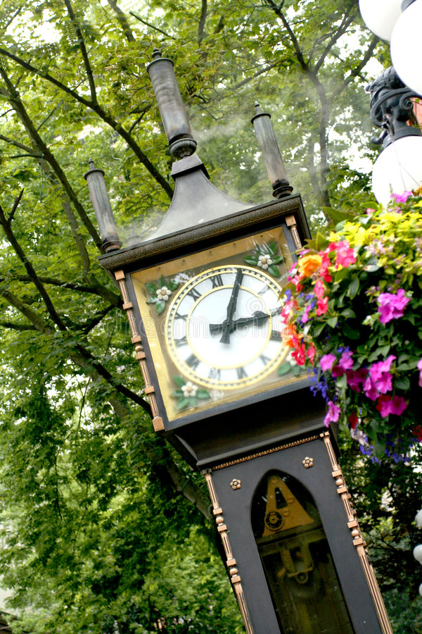 Horloge de vapeur photo libre de droits