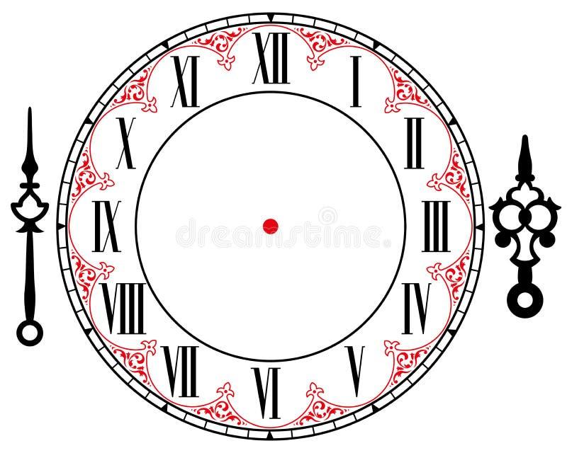 Horloge de vintage de vecteur illustration libre de droits