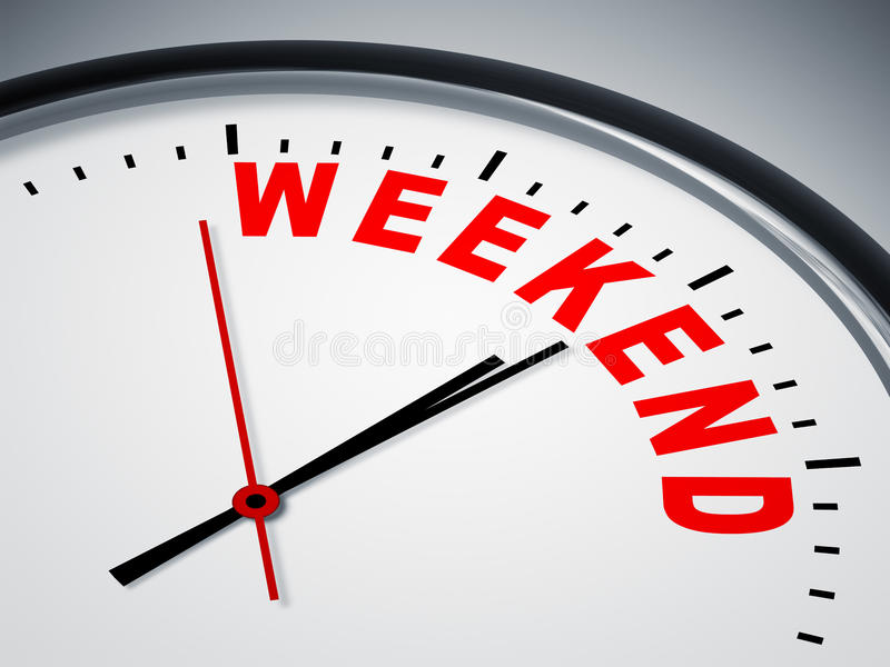 Horloge de week-end illustration de vecteur