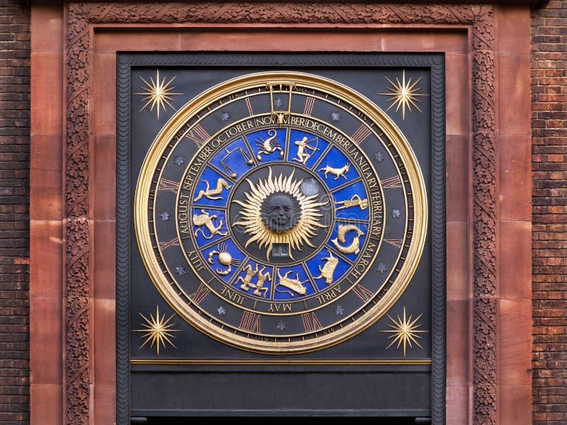 Horloge de zodiaque photographie stock libre de droits