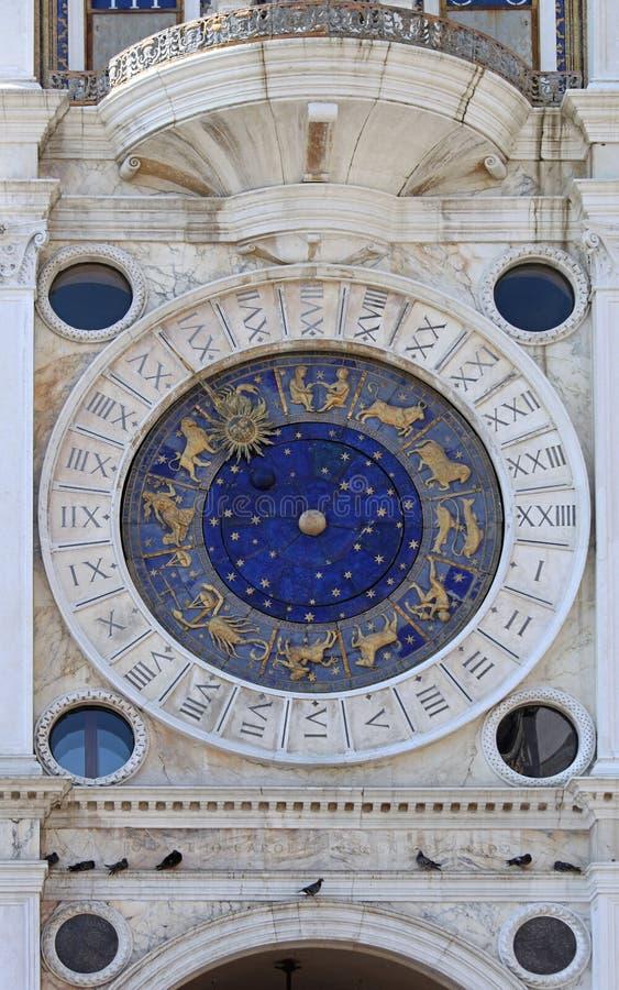 Horloge de zodiaque de Venise image stock