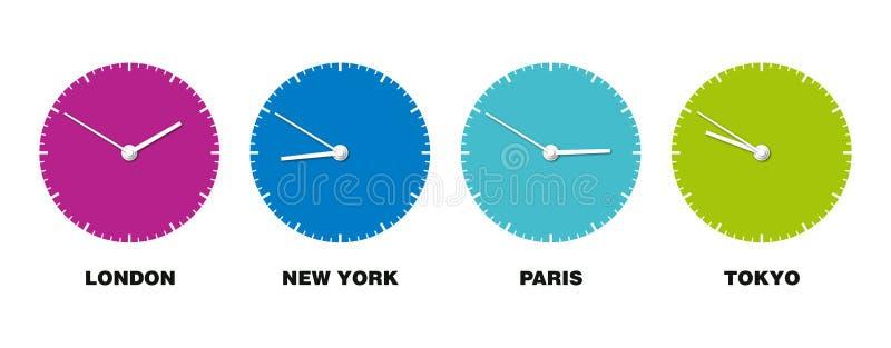 Horloge du monde illustration libre de droits