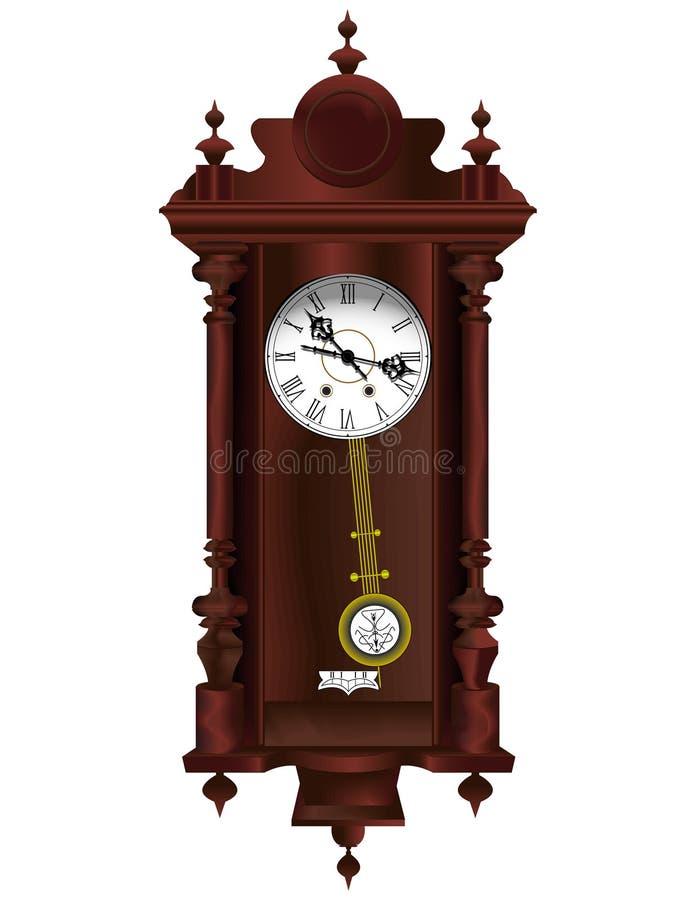 horloge en bois ancienne illustration de vecteur illustration du antique 4549440. Black Bedroom Furniture Sets. Home Design Ideas