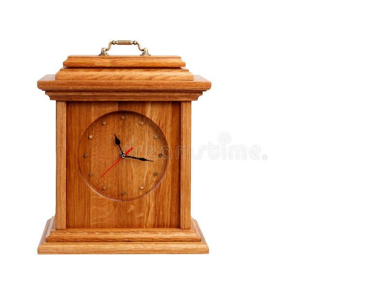 Horloge en bois de vintage photo stock