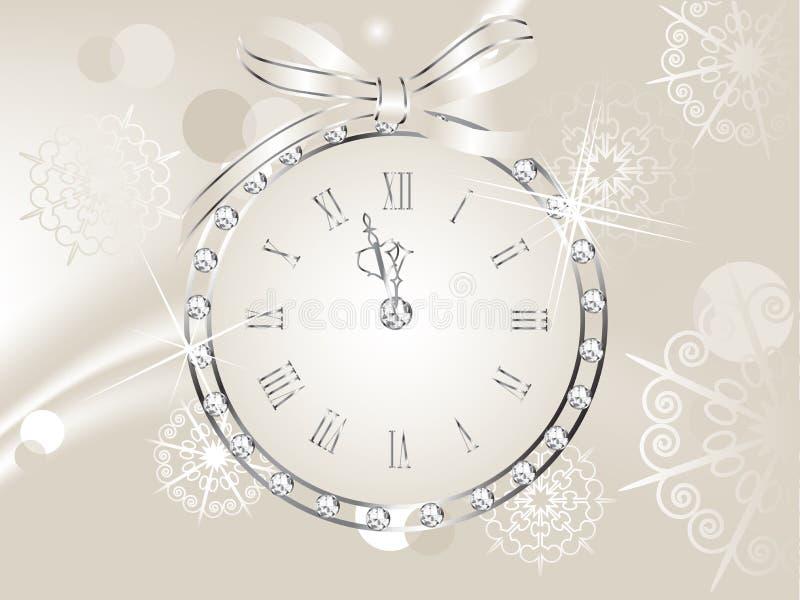 Horloge en globe illustration stock
