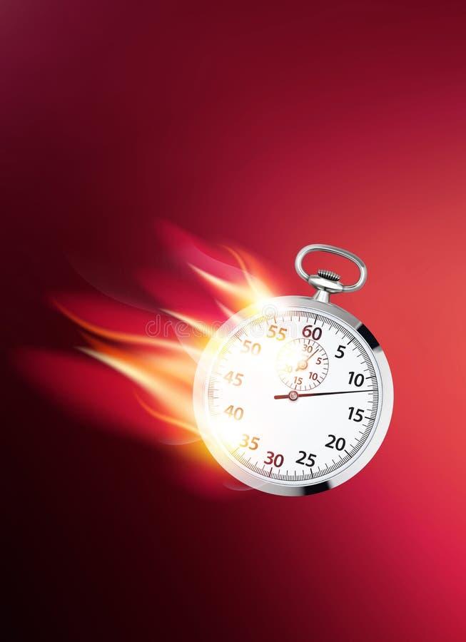 Horloge flamboyante Un concept plus rapide d'affaires illustration de vecteur
