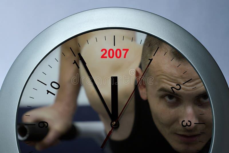 Horloge folâtre photographie stock libre de droits