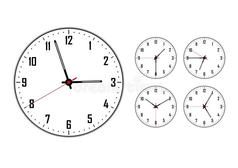 Horloge : grand et quelques uns petits illustration libre de droits