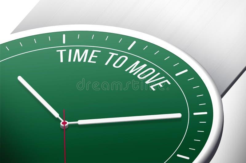 Horloge groen met woorden stock illustratie