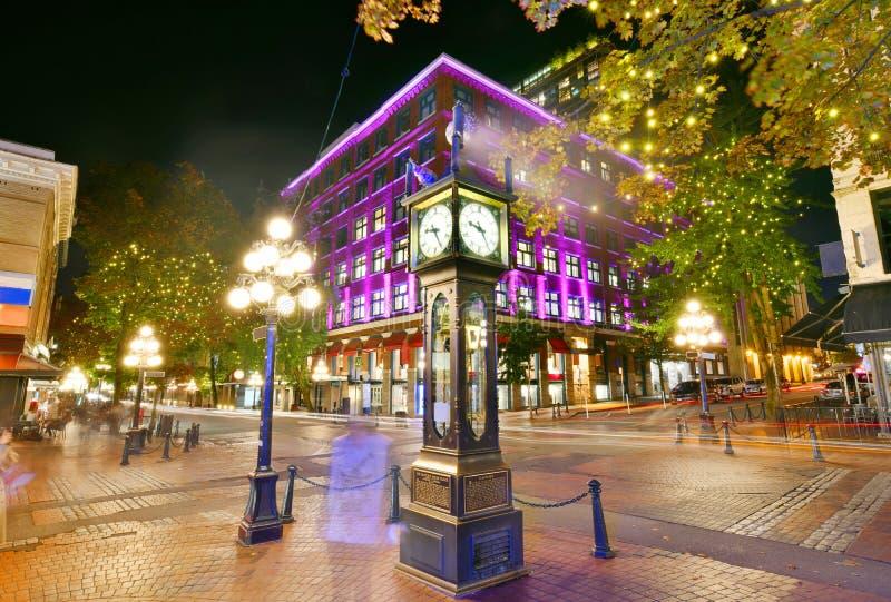 Horloge historique Gastown, Vancouver, Canada de vapeur photographie stock libre de droits