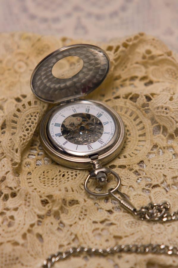 Horloge mécanique de poche photographie stock libre de droits