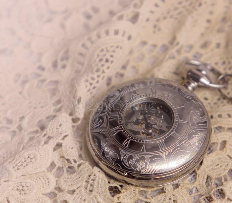Horloge mécanique de poche photo libre de droits