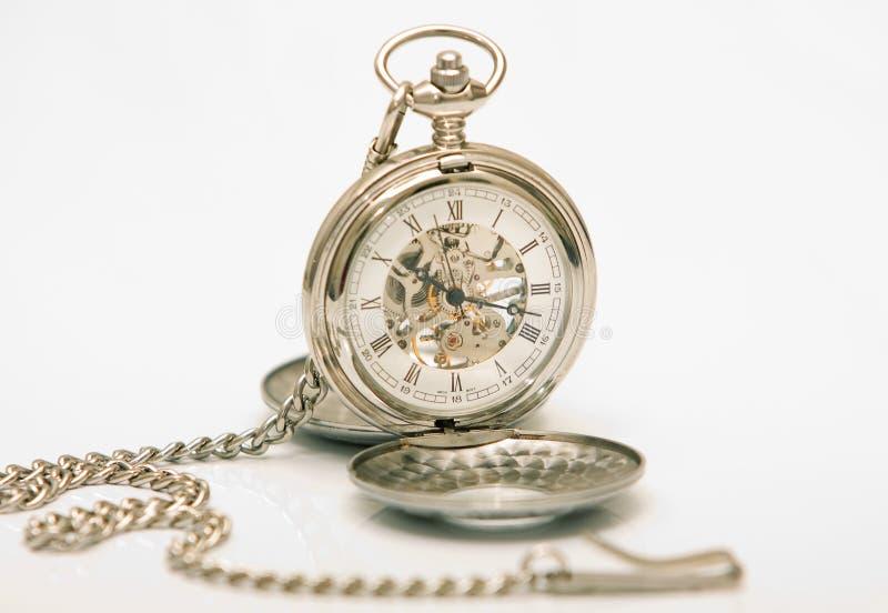 Horloge mécanique de poche images stock