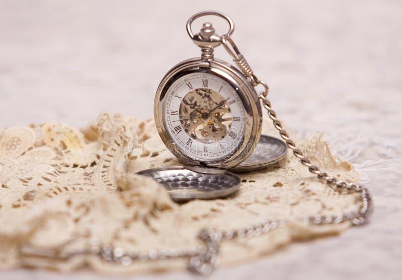 Horloge mécanique de poche photographie stock