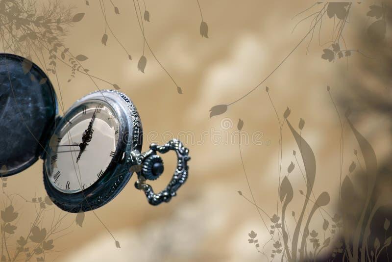 Horloge met samenvatting royalty-vrije stock foto