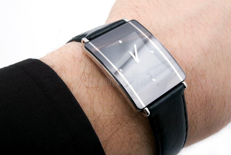 Horloge met vier diamanten stock foto's