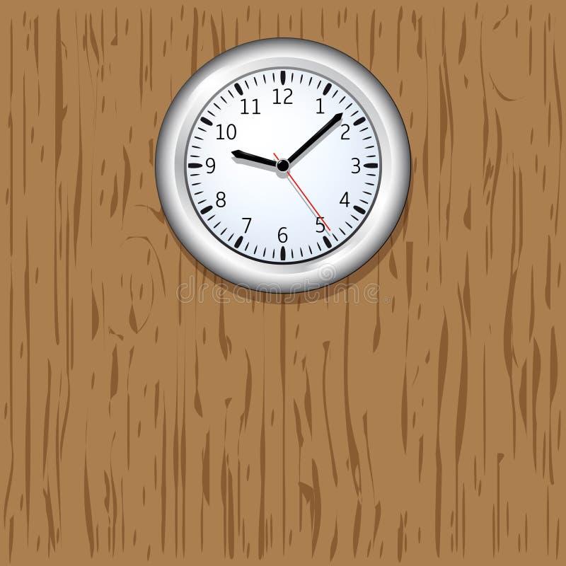 horloge murale sur le fond en bois illustration de vecteur illustration du cloche closeup. Black Bedroom Furniture Sets. Home Design Ideas