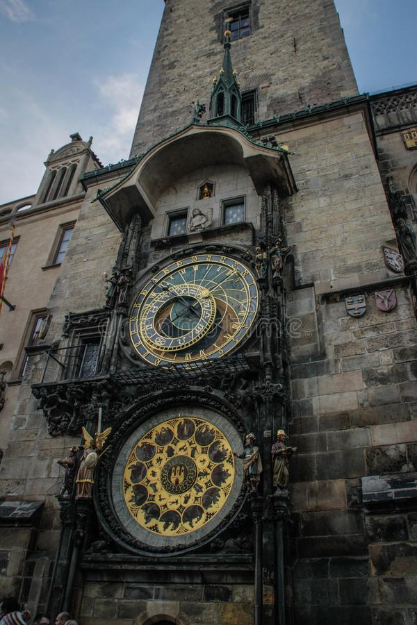 Horloge ou Prague astronomique Orloja de Prague photos libres de droits