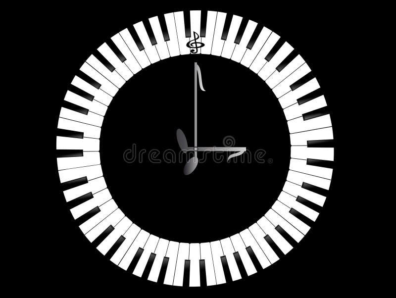 Horloge-Piano illustration de vecteur