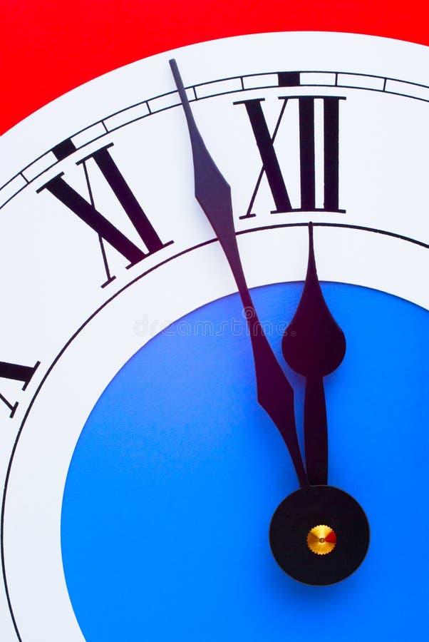 Horloge presque de minuit photos libres de droits