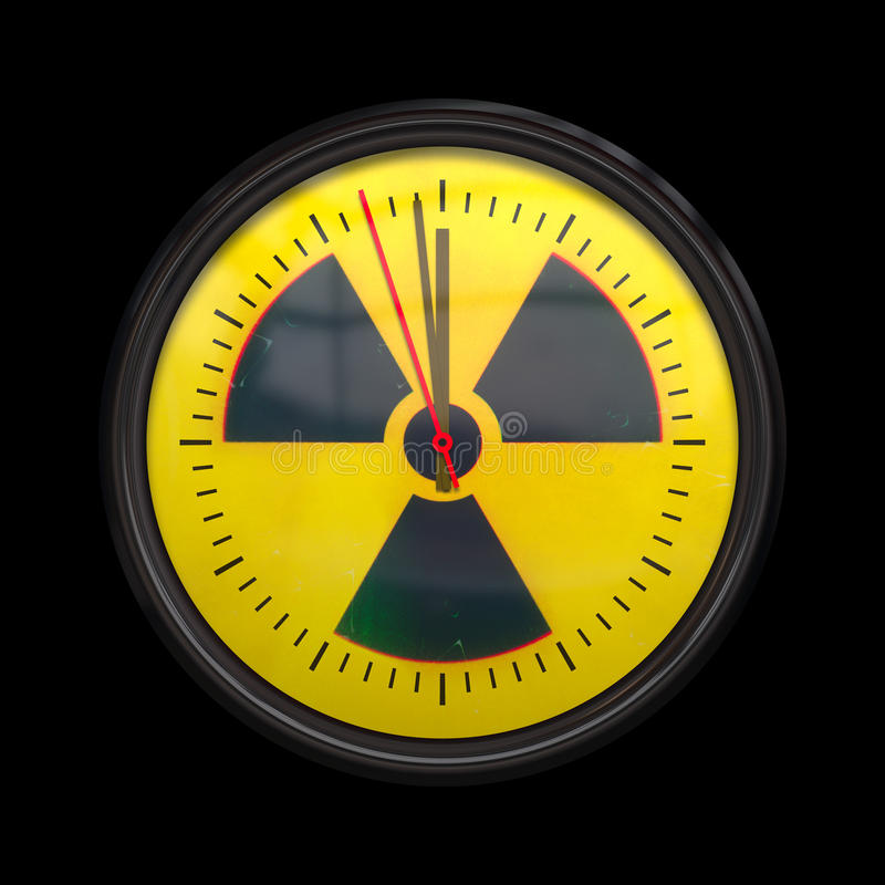 Horloge radioactive illustration de vecteur
