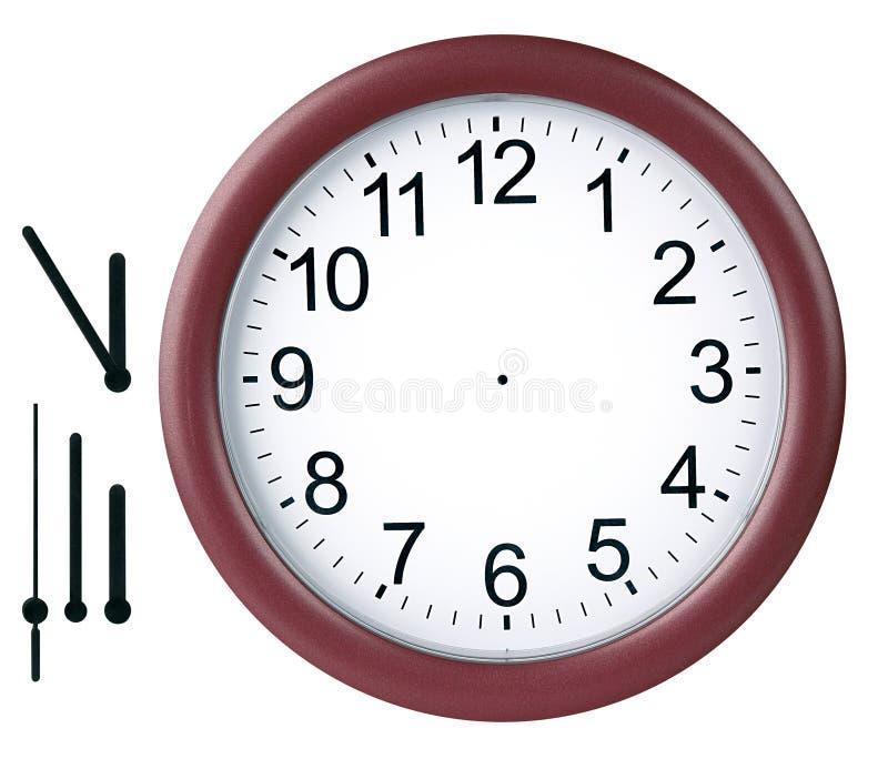 Horloge ronde d'isolement image libre de droits