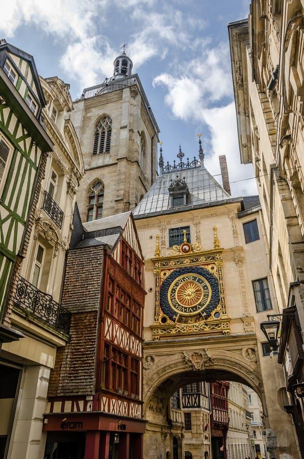 Horloge in Rouen royalty-vrije stock afbeelding