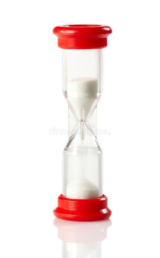 Horloge rouge de sable image libre de droits