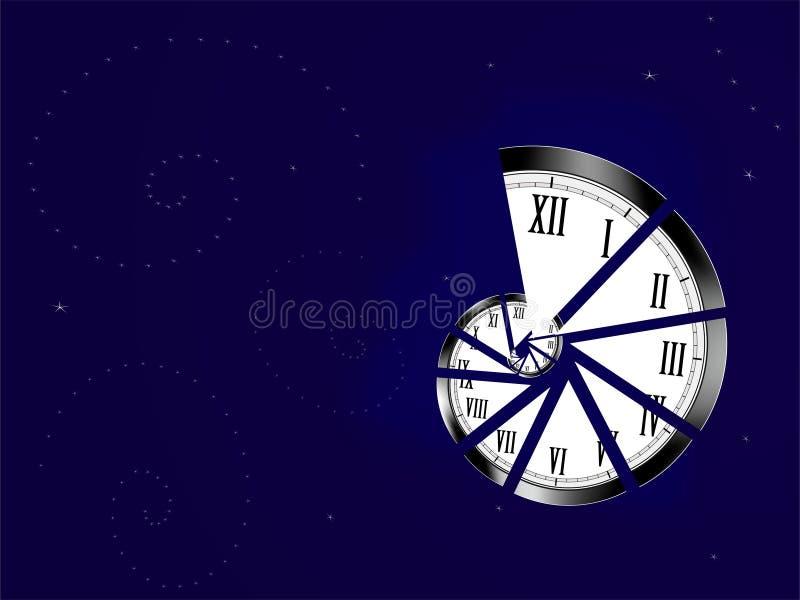 Horloge spiralée   illustration libre de droits