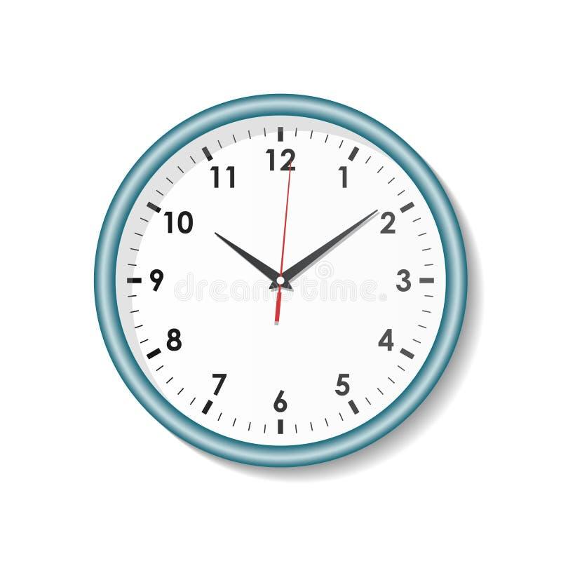Horloge sur le fond blanc illustration libre de droits