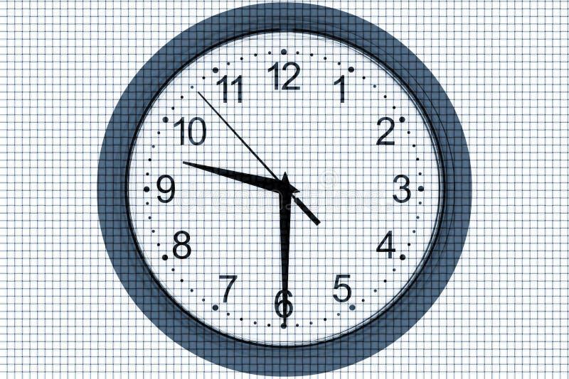 Horloge sur un fond abstrait photos libres de droits