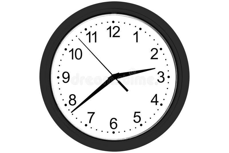 Horloge sur un fond blanc photographie stock
