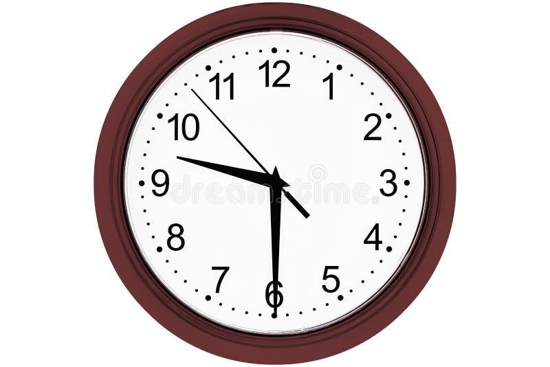 Horloge sur un fond blanc photo stock