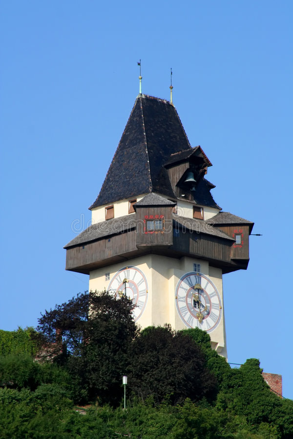 Horloge-Tour Graz photos stock